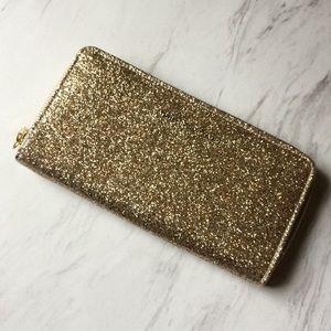 Adrienne Vittadini glitter zip wallet